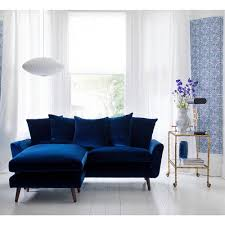 deep blue velvet sofa velvet sofas our pick of best ideal home