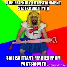 Sail Meme - our friendly entertainment staff await you sail brittany ferries