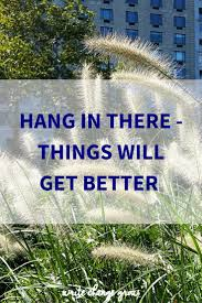 hang in there things will get better