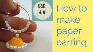 quilling earrings tutorial pdf free download diy beautiful quilling paper party wear earrings paper quilling