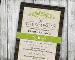 family reunion invitation lime summer picnic invitations