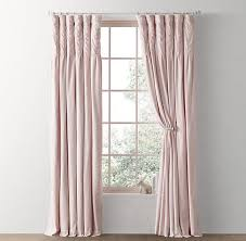 Petal Pink Curtains Tufted Petal Pink Velvet Drapery Panel