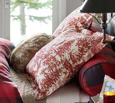 alpine toile duvet cover u0026 sham and fillmore bed headboard for