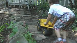 tonka trucks dig dirt construction kids playing backyard fun