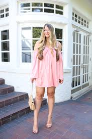 feminine pink mini dress for date night cameron proffitt