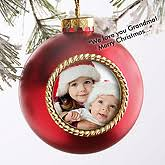 recordable photo ornament pearl finish gifts