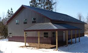 Lean To Barns Sherman Pole Buildings Wrap Around Lean To Pictures Building