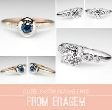 gemstone wedding rings colored gemstone engagement rings from eragem
