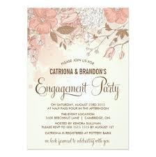 Engagement Party Invites Spring Flowers Engagement Party Invitation Card