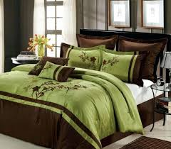 Green Bed Sets Captivating Kingsize Bedding Sets On Brown And Green King Size