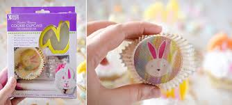 Decorated Easter Bunny Cookies by Light Coconut Cream Easter Bunny Cupcakes