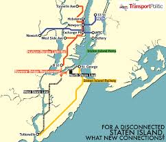 hudson bergen light rail map a light rail extension for staten island the transport politic