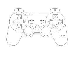 game console controller outline clip art clker vector