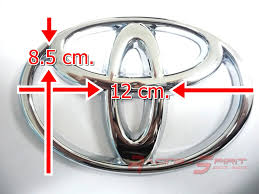toyota logo 12cm chromed toyota logo badge emblem for trunk coroll