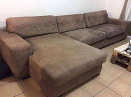 canapé à angle en daim beige annonce meubles et décoration