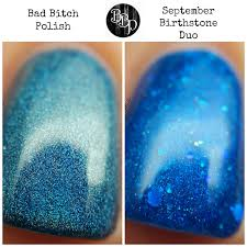 turquoise birthstone lacqueredmama bad polish september birthstone duo
