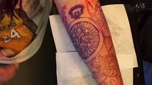 clock tattoo on hand rose clock tattoo youtube
