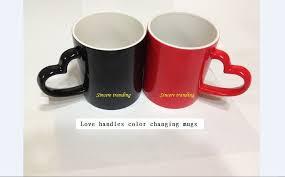 Heart Shaped Mugs Com 2pcs Heart Shaped Couple Novelty Gift Photo Color Changing