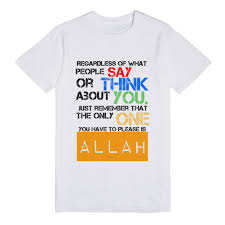 white t shirt halloween costumes the only one you have to please is allah t shirt skreened