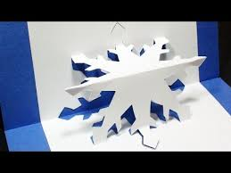 how to make a snowflake pop up card free template kirigami 3d