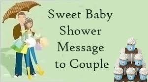 sweet baby shower message to