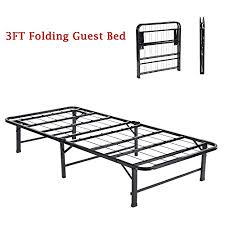 Single Folding Guest Bed Ajie 3ft Solid Single Folding Guest Bed With Metal Frame For