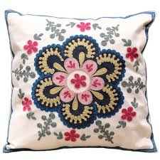 Modern Cushions For Sofas Modern Design Flowers 100 Cotton Embroidery Sofa Cushion Covers