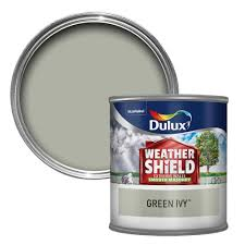dulux weathershield green ivy smooth matt masonry paint 0 25l