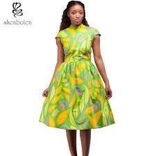 dress for women african batik cloth printed african batik cloth
