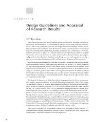 chapter 4 design guidelines and appraisal of research results