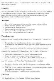 chef resume exles sle of resume fungram co