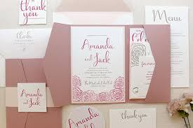 wedding invitations rose revenge inspired floral letterpress wedding invitations