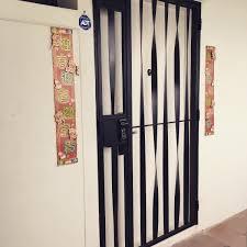 Steel Door Design Latest Hdb Mild Steel Gate With Modern Design Yale Fingerprint