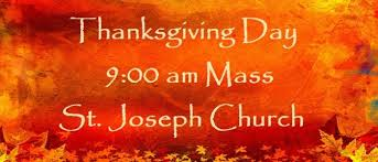 thanksgiving day mass all saints catholic parish