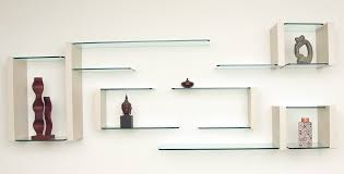 home design glass display wall shelves cabinets environmental