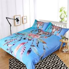Cow Duvet Cover Blue Floral Cow Skull Dream Catcher Doona Set U2013 Salty Gypsy Co