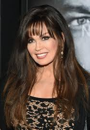 marie osmond hairstyles feathered layers marie osmond long wavy cut with bangs wispy bangs marie osmond