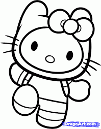 drawing kitty colouring pages varnaru