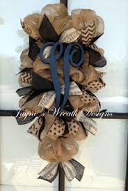 burlap door swag wreath with burgundy hydrangeas leopard print