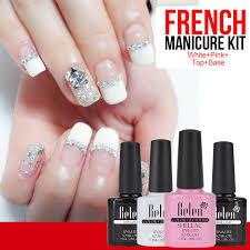 aliexpress com buy belen uv gel nail polish pink white french