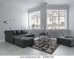 small cozy living room large sofa stock illustration 651004606