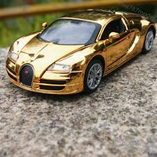 golden cars bugatti veyron 1 32 alloy diecast model cars toys gifts golden