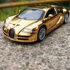 yellow bugatti bugatti veyron 1 32 alloy diecast model cars toys gifts golden