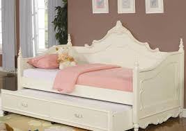 bed white daybed with pop up trundle cute white metal daybed