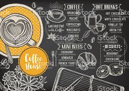 menu design of cafe coffee cafe menu template design stock vector art more images of