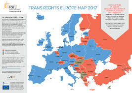Map Of Red And Blue States by Trans Rights Europe Map U0026 Index 2017