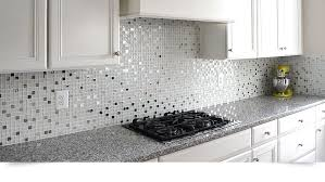 Metal Kitchen Backsplash Tiles Modern White Glass Metal Kitchen Backsplash Tile Backsplash Com