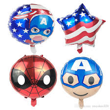 birthday balloons delivery for kids funko pop mix american flag captain america circular aluminum