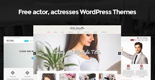 free actor actresses wordpress themes for celebrity websites