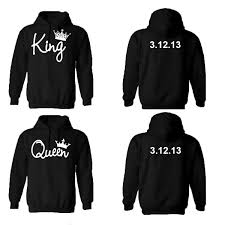 king hoodies personalized back custom dates